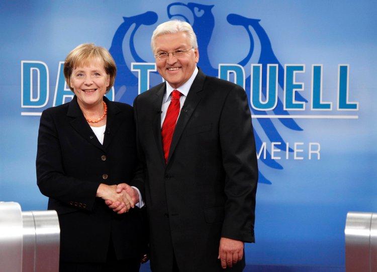 Merkel und Steinmeier am 13.9.09